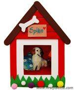 Dog House Craft Stick Photo Frame