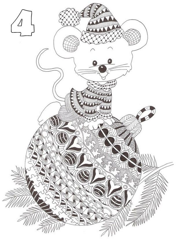art therapy coloring page advent calendar : december 4th 8