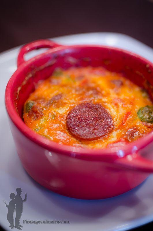 Flan aux poivrons et au chorizo | Piratage Culinaire