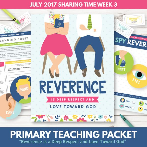 "SAVE BIG by purchasing this kit in our July 2017 Sharing Time Combo Pack! This LDS Sharing Time teaching package is designed specifically for July- Week 3. We have provided wonderful teaching tools and suggestions to help your LDS Primary understand how, ""Reverence is Deep Respect and Love Toward God."" Included in this package is over 30 pages of sharing time teaching suggestions and helps! You will love the custom illustrations, meaningful learning activities, and more! This is a DIGITAL…"