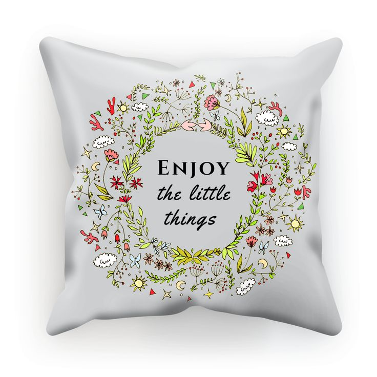 Enjoy Little Things Cushion https://blooom-store.myshopify.com/products/cushion