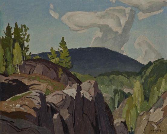 """Rock Cut - Whitefish Falls,"" Alfred Joseph Casson, ca. 1961/2, oil, 12 x 15"", Art Museum, University of Toronto."