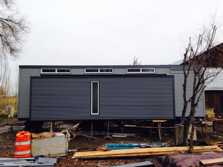Exterior Side View Of Corrugated Metal Siding On The 24x5 Slideout Our
