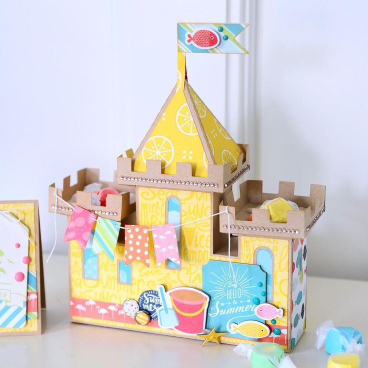 Love Jana Eubank's take on our sand castle from the Wet N Wild SVG Kit! Awesome paper from Echo Park!