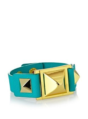 71% OFF Vince Camuto Green Leather Pyramid Bracelet