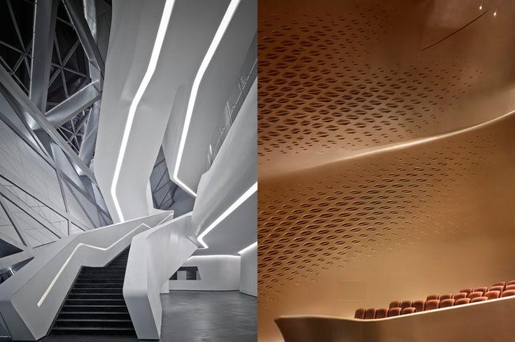 L'Opéra de Guangzhou,  China by Zaha Hadid