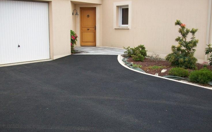 Projet d'aménagement d'allée de garage en enrobé noir à chaud