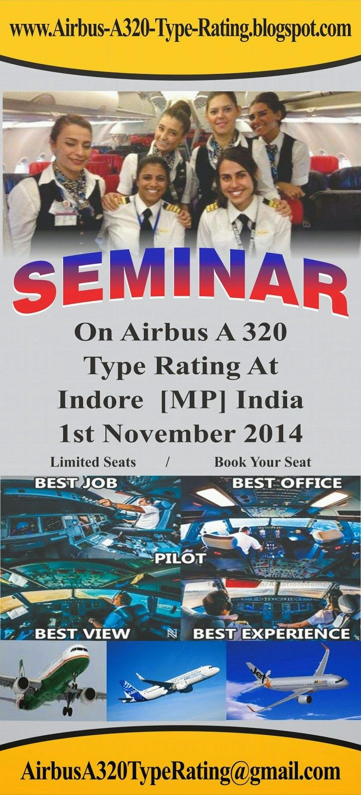 International Airlines Pilot Training Admission Op: Full Motion Airbus A320 Simulator