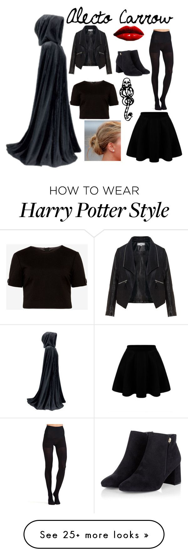 """Alecto Carrow - Deatheater"" by autybeddoe on Polyvore featuring Zizzi, Ted Baker, Commando and mark."