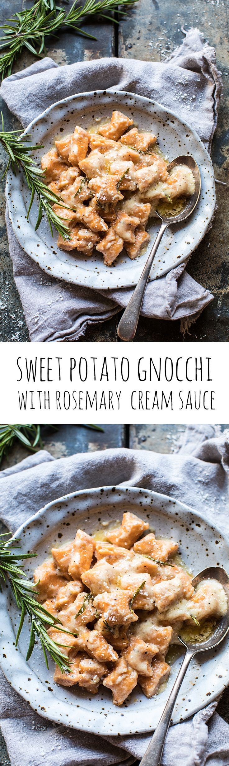 Sweet Potato Gnocchi with Rosemary Cream Sauce | halfbakedharvest.com @hbharvest