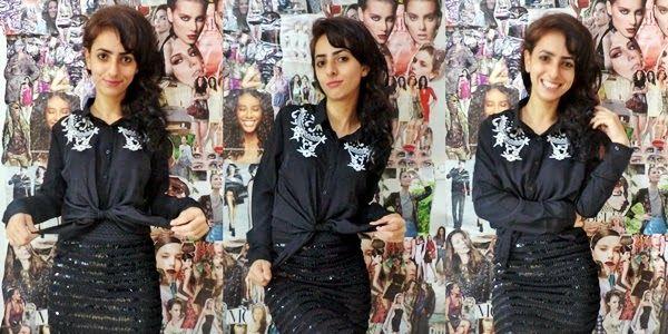 Laiali Safa: Camisa preta da Persun Mall: Como usei