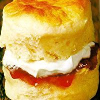 Traditional English Scones with Clotted Cream (has recipe for both the scones and the cream)