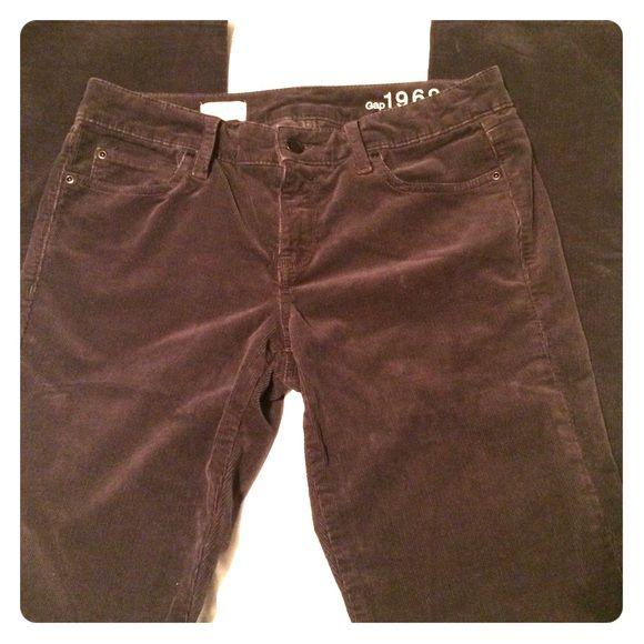 GAP Corduroy Plum Jeans GAP corduroy plum colored jeans. Size 28 and great condition  GAP Jeans