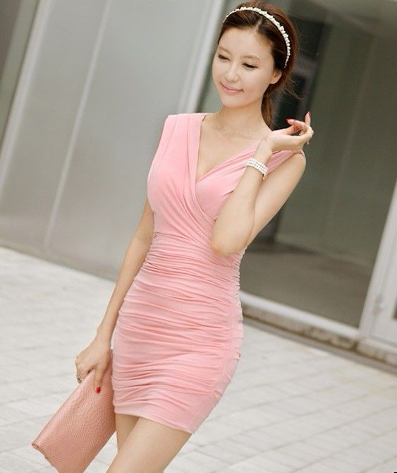 Dress Korea - JY6166LF Pink  Rp 128.000,-