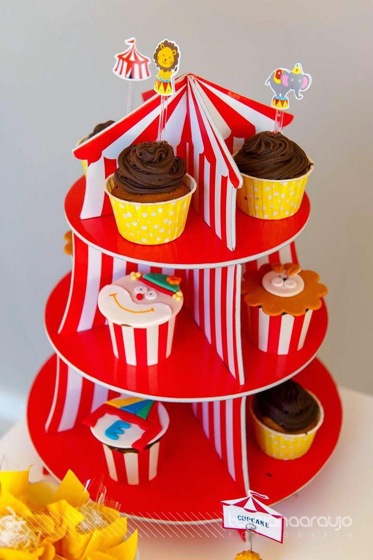 Festa_Infantil_Decoração_Circo_Detalhe_Cupcakes