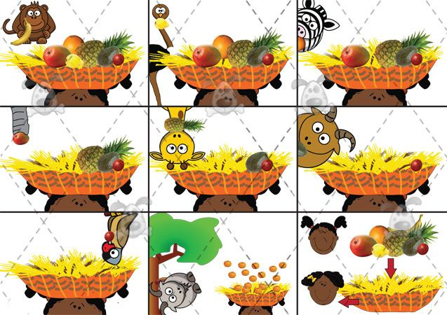 Teacher's Pet - Handa's Surprise Playdough Mats - Premium Printable Game / Activity - EYFS, KS1, KS2, Africa, Eileen. Browne, Handa, African...