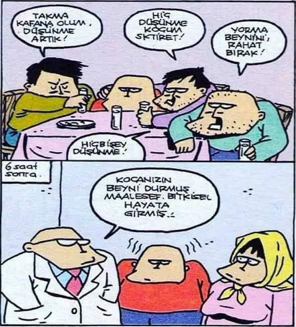 Düşünemeyen Adam Karikatürü Özer Aydoğan | Karikatürname