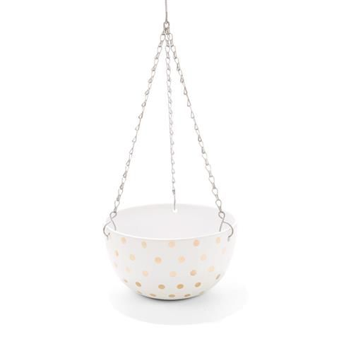 Hanging Pot - Gold Dots | Kmart