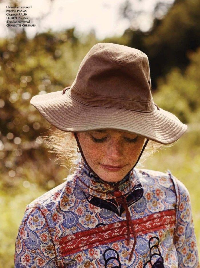 Amanda Smith Wears By David Burton For Elle France Aug 7, 2015 - Prada