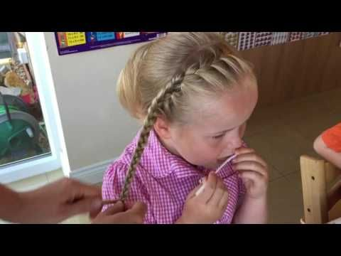 French head band pigtails by Two Little Girls Hairstyles – YouTube