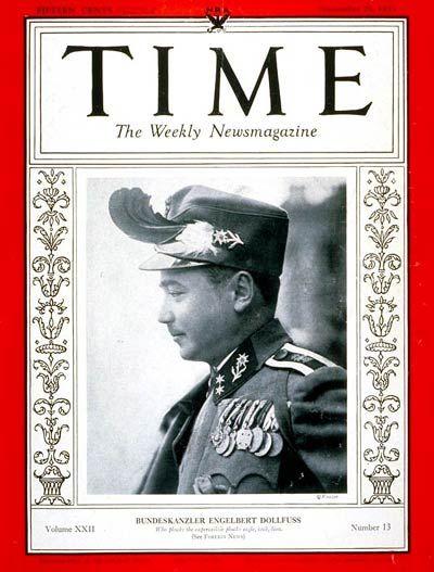 TIME Magazine Cover: Engelbert Dollfuss - Sep. 25, 1933 - Austria