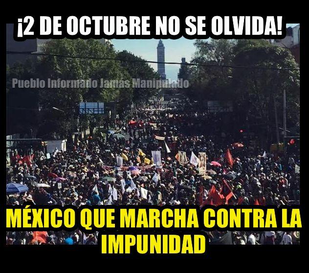 ¡Ni perdon ni olvido !  Tlatelolco y Ayotzinapa Crimen de Estado — with Julio Cesar Perez Ruiz, Gerardo Chavez, Morena Coatza and 22 others. un Mexico sin pena es un Mexico sin Peña.