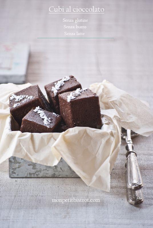 Cubi al cioccolato (senza glutine, Senza burro, Senza Latticini)