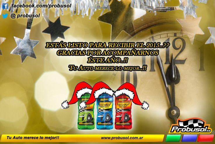 Como te preparas para éste fin de año..?? Estás listo para recibir el 2015..?? ya llega..!! Todos los que formamos parte de Probusol s.a. queremos agradecerles por habernos acompañado éste año..!! y les deseamos todo lo mejor para el año que comienza..!!