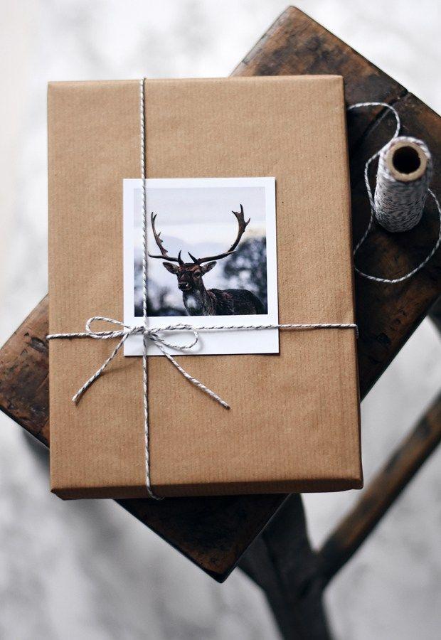 Weihnachtsgeschenkverpackung mit Inkifi