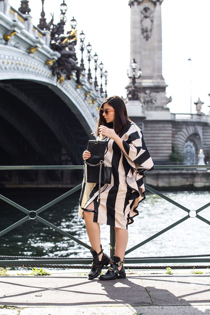 Stripes And Ruffles For The Last Day Of PFW