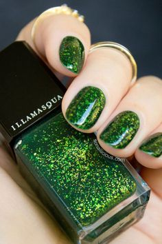 cool green nails
