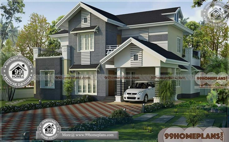 Western Style House Plans with Small Two Storey House ...