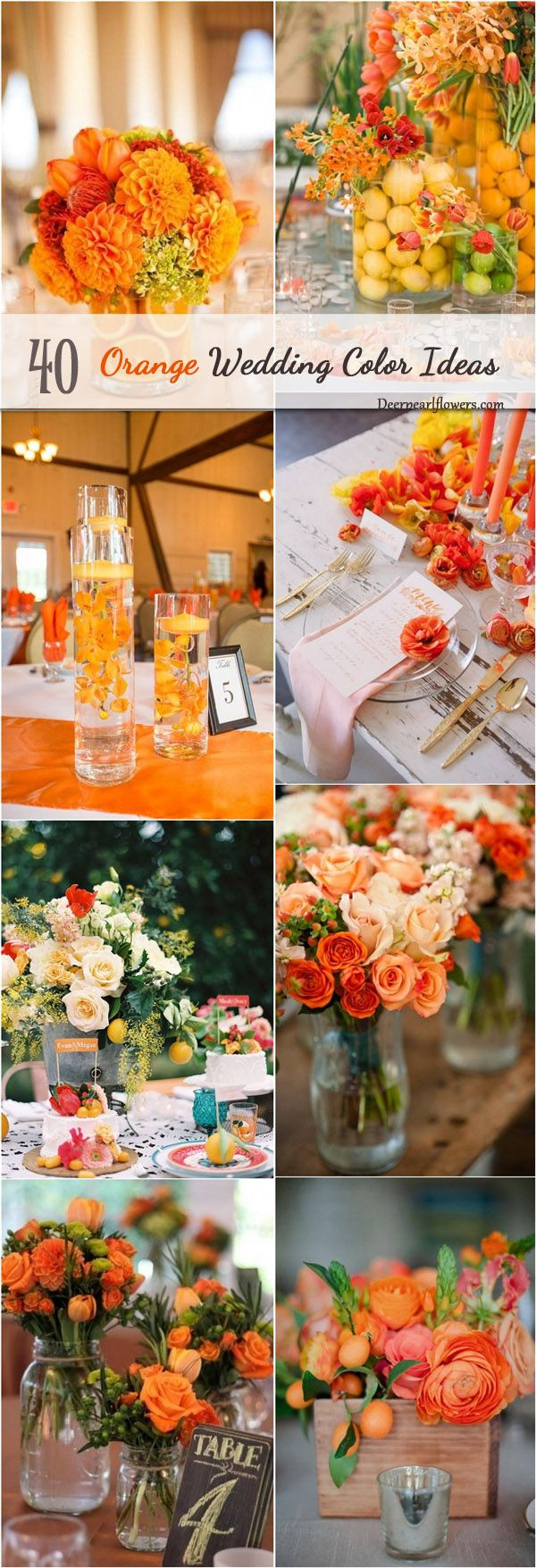 summer fall orange wedding color ideas / http://www.deerpearlflowers.com/orange-wedding-color-ideas/2/