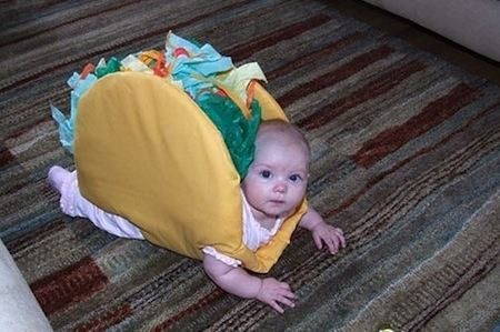 it's a walking taco!