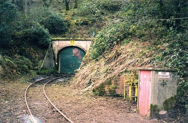 Trecwn Royal Naval Armaments Depot There are a total of 58 storage chambers, each extending into the hillside for 200 feet, arranged in a herringbone formation along both sides of the valley. Each one has alarmed steel doors with its own siding off the narrow gauge railway