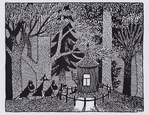 Moomin Picture Poster 24 x 30 cm Tove Jansson Illustrations Dark Woods | eBay