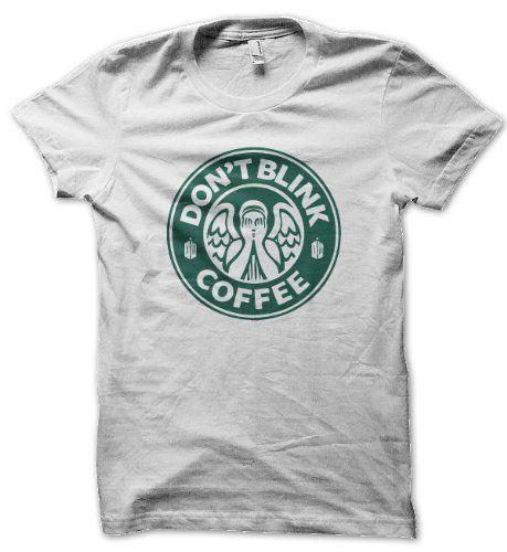 Dont Blink Doctor Who Coffee (Turquoise On White) Mens Tshirt Dope Apparel, http://www.amazon.co.uk/dp/B00FNR0ADM/ref=cm_sw_r_pi_dp_XMM9sb1VKFC16