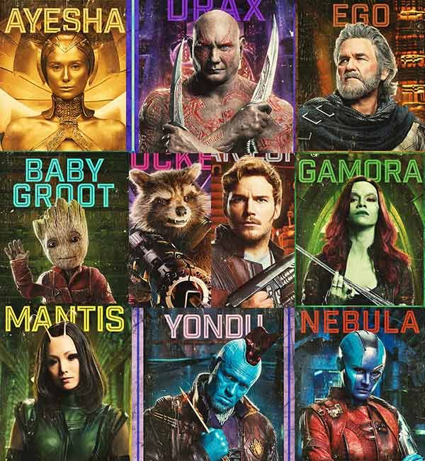 Guardians Of The Galaxy Vol. 2: New character posters will excite you for the upcoming superhero space adventure #FansnStars