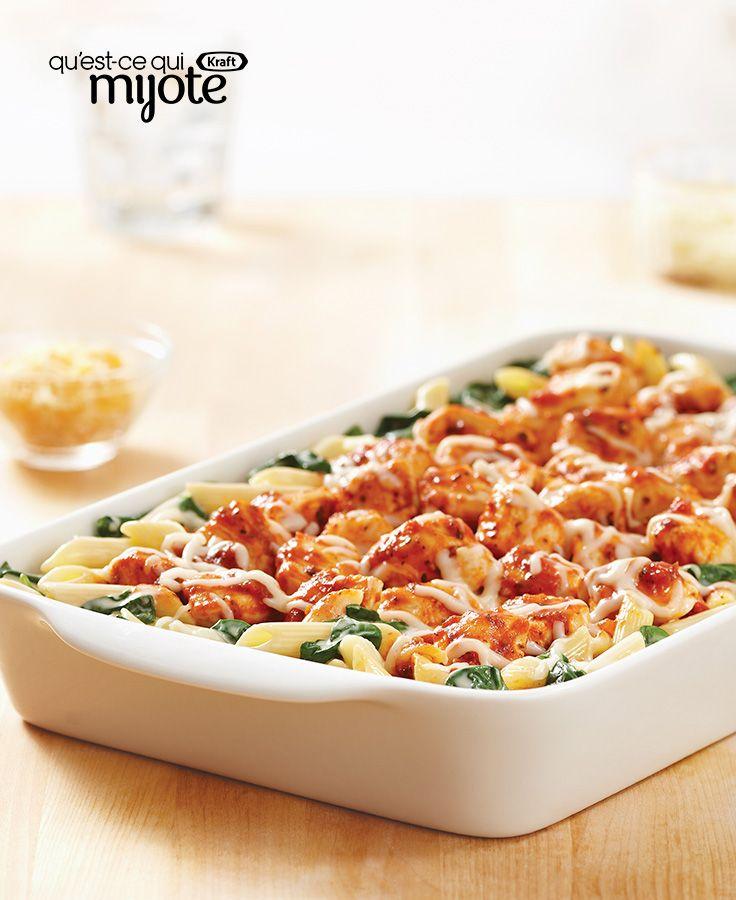 Poulet à la florentine au fromage #recette