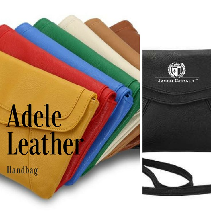 """Adele Leather Handbag LEATHER HANDBAG  Our Adele is fashionable soft leather envelope shape handbags. The inside is lined with soft strong polyester. Just the right size 9.5"""" x 6.7"""" Choose from 8 different colors for each day of week.  #fashion #style #stylish #photooftheday #qualitybags #womensbags #beauty #beautiful #leatherwallet  #menswallet #womenswallet #design #bags  #leatherbag #leather #styles #salesbags #mensbags  #jasongerald #shopping #fashionbags#salebag  #mensleatherwallet…"""