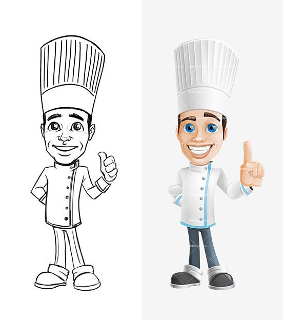 Cook Cartoon Character Scketch: http://tooncharacters.com/male-cartoon-characters/cook-cartoon-character/