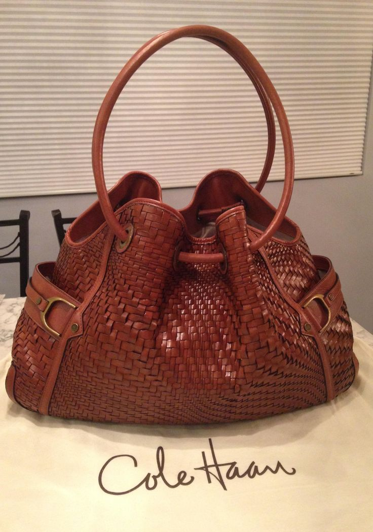Cole Haan Genevieve Like New! Woven Leather Weave Hobo Handbag Saddle Brown Cognac Tote Bag. Get one of the hottest styles of the season! The Cole Haan Genevieve Like New! Woven Leather Weave Hobo Handbag Saddle Brown Cognac Tote Bag is a top 10 member favorite on Tradesy. Save on yours before they're sold out! GORGEOUS!!! BEAUTIFUL WOVEN LEATHER DENNEY WEAVE LARGE BAG IN A STUNNING SADDLE BROWN / COGNAC BROWN COLOR!!! RARE!!! ONLY ONE!!! SALE!!! WOW!!!