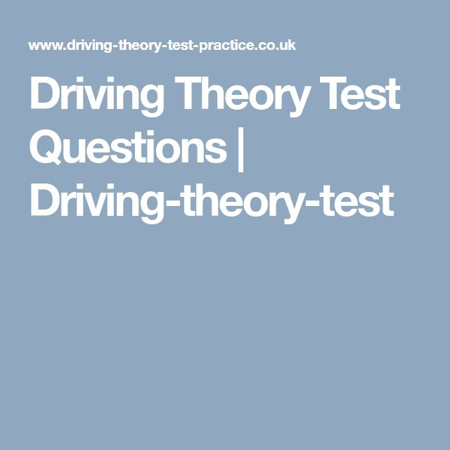 Driving Theory Test Questions | Driving-theory-test