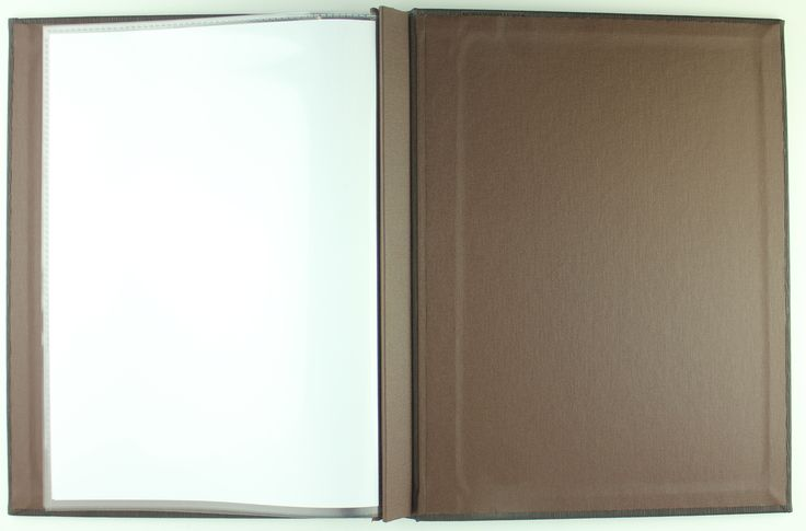 Channel Bind | A4 - Charcoal Eclisse - Dark Brown Buckram - Sleeves