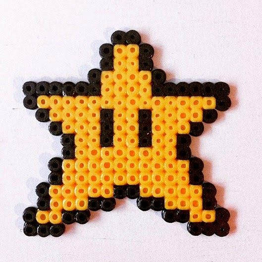 Super Mario star with perler beads