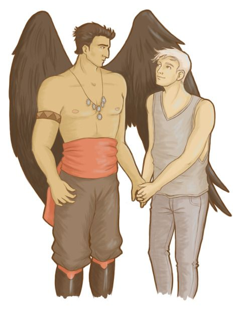 """Thank you Linda (""""thegriffindiary"""" on tumblr) for this cute pic of Garvan and Yoni ♥"""