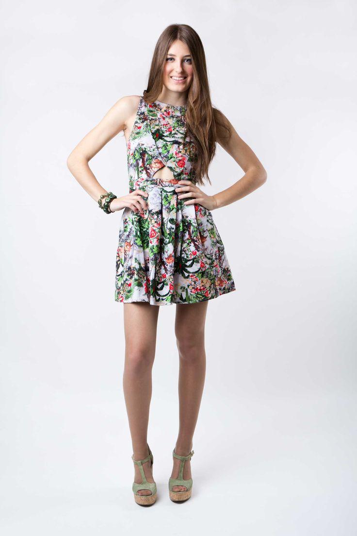 Vestido Estampado - Inspiração. #vestidos #vestidodenoiva #vestidodefesta #vestidoestampado
