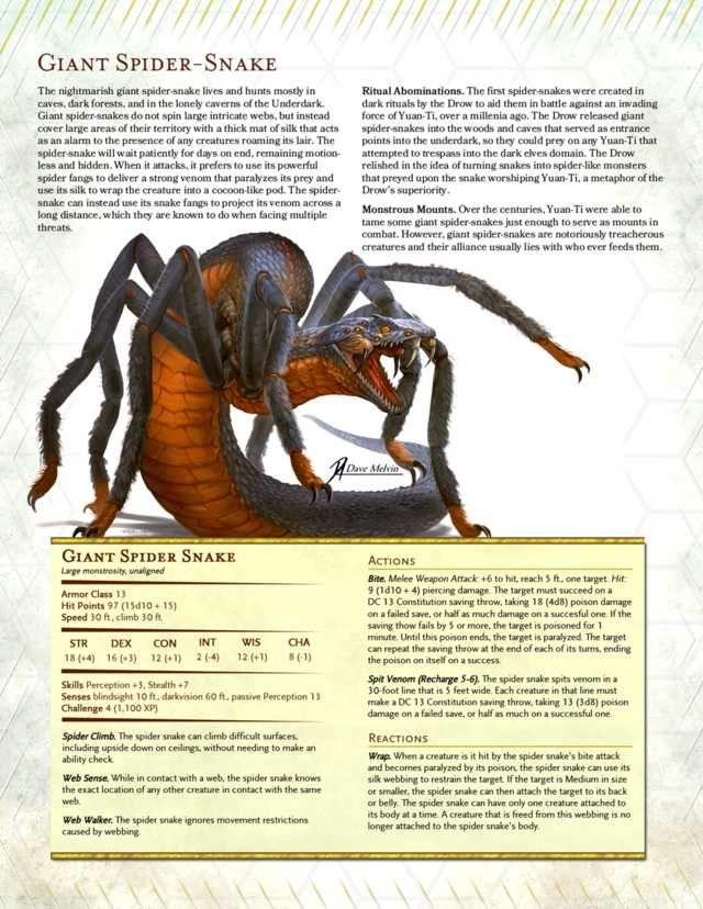 Dnd 5e Giant Spider Snake Homebrew Updated Dnd Dragons D D Dungeons And Dragons Dungeons And Dragons Homebrew Your android, on the web. dnd 5e giant spider snake homebrew