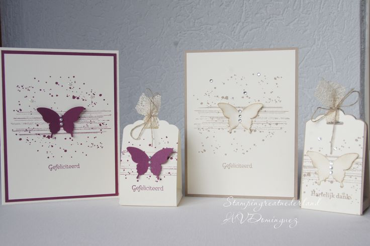 Stampin'Up! ,Elegant butterfly punch. Gorgeous grunge stamp set