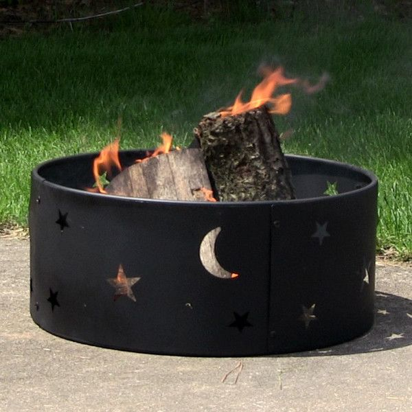 With The Sunnydaze Cosmic Stars And Moon Fire Ring You Can Enjoy An Outdoor  Fire With This Portable Fire Ring.Take It With You Camping, Beach, Or  Backyard!
